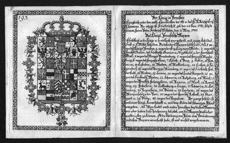Preußen Stettin Mecklenburg Wappen Heraldik coat of arms heraldry Kupferstich 0