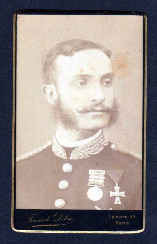 Alfons XII König v. Spanien king Spain Espana CDV Photo vintage Foto 0