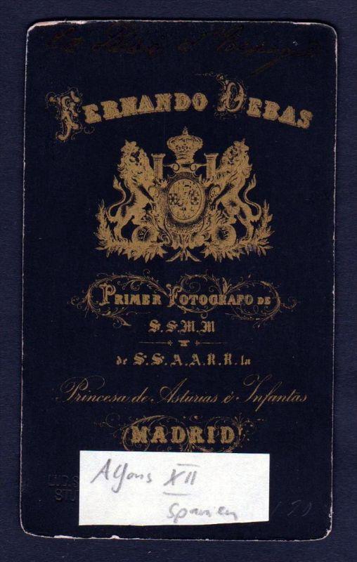 Alfons XII König v. Spanien king Spain Espana CDV Photo vintage Foto 1