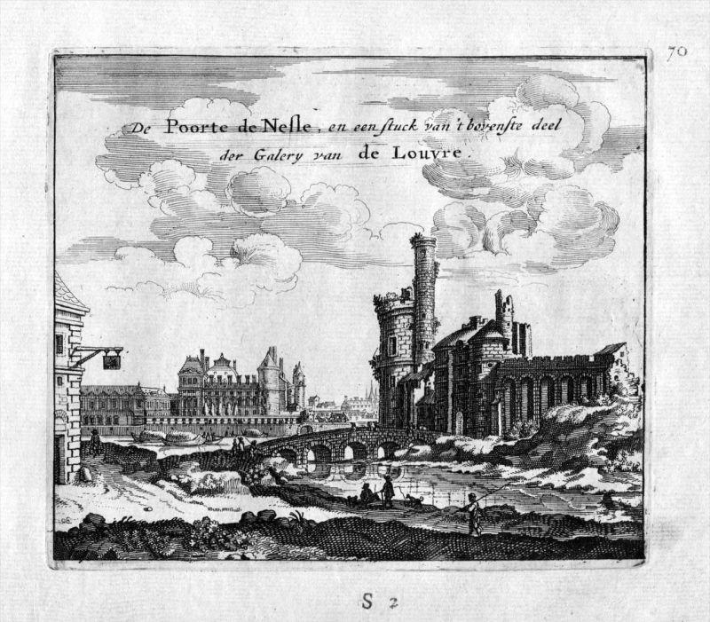 Tour de Nesle Louvre Paris Frankreich France gravure estampe Kupferstich
