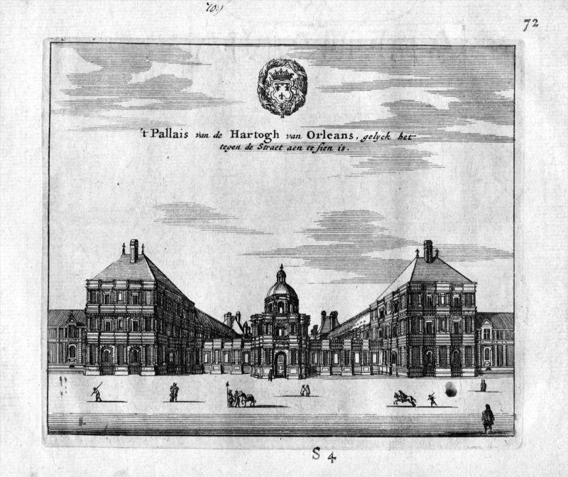 Palais Herzog Orleans Paris Frankreich France estampe gravure Kupferstich