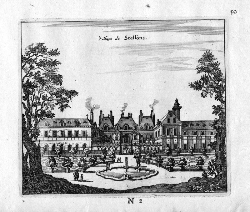 Palais Soissons Paris Frankreich France gravure estampe Kupferstich 0