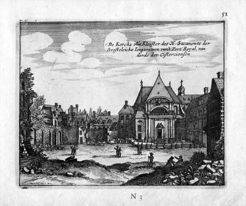 Kloster des heiligen Sacraments Frankreich France gravure estampe Kupferstich 0