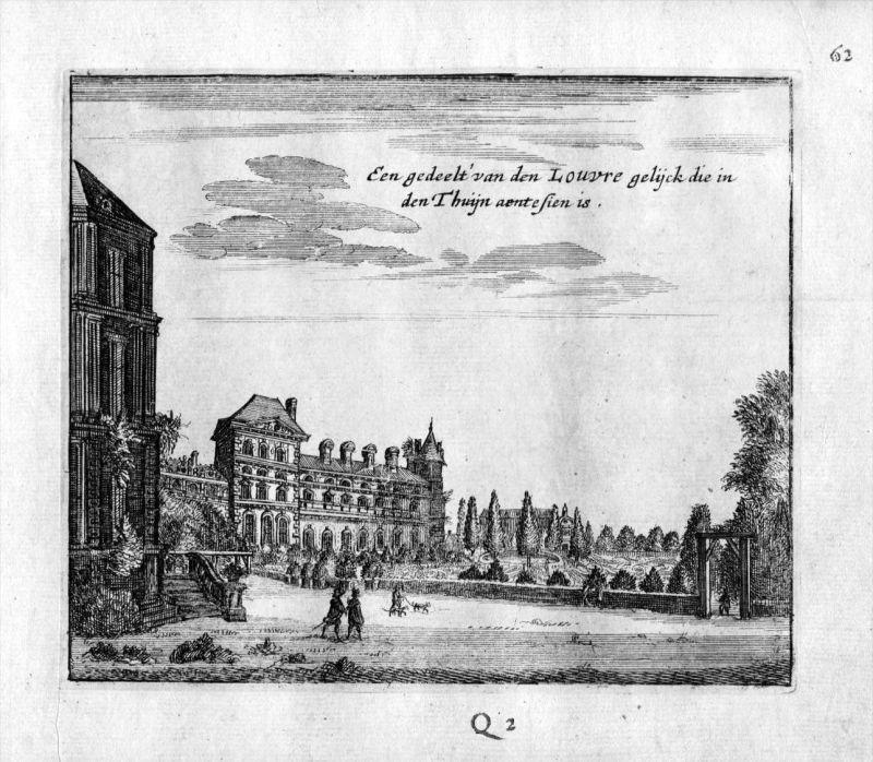 Louvre Paris Frankreich France gravure estampe Kupferstich 0