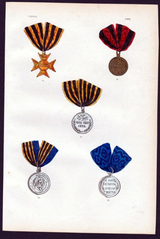 Russie - Russia Russland Verdienstorden Medaille decoration medal Orden
