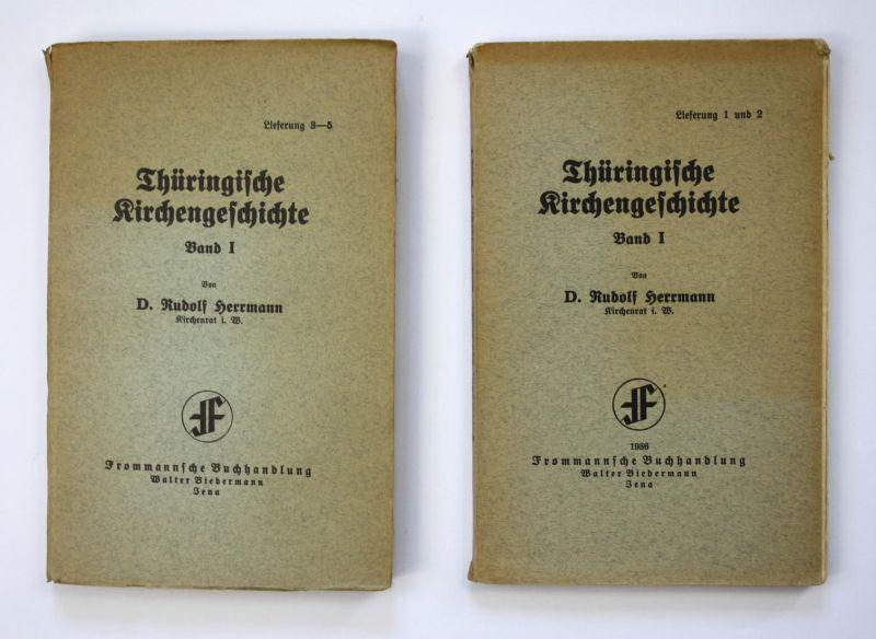 Thüringische Kirchengeschichte - Band I. Lieferungen 1-5 in 2 Bände.