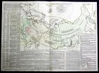 L'Empire Russe en Europe et en Asie - Russland Russia Europe Asia Siberien Siberia Karte map Kupferstich antiq