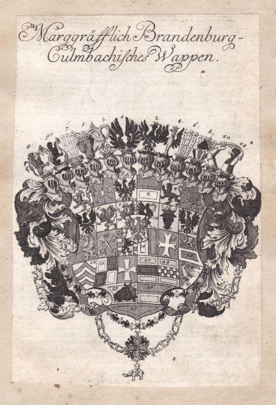 Marggräfflich Brandenburg-Culmbachisches Wappen - Brandenburg Kulmbach Bayern Bavaria Adel Wappen coat of arms