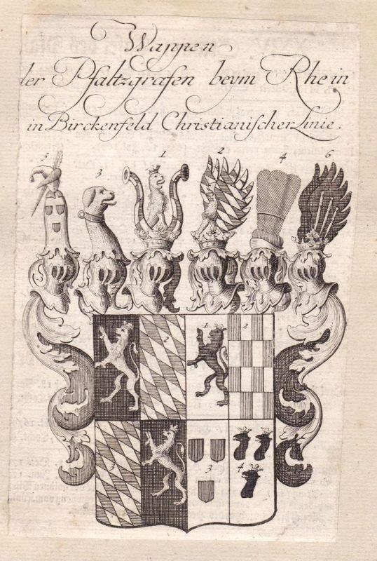 Wappen der Pfalzgrafen beym Rhein in Birckenfeld Christianischer Linie - Birkenfeld Rheinland-Pfalz Rhein Pfal