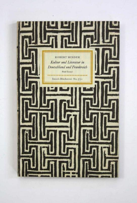 Kultur und Literatur in Deutschland und Frankreich. Insel-Bücherei Nr. 771. Erste Ausgabe.