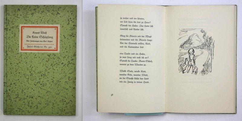 Die kleine Schöpfung. Mit Zeichnungen von Karl Caspar. Insel-Bücherei Nr. 521. Erste Ausgabe.
