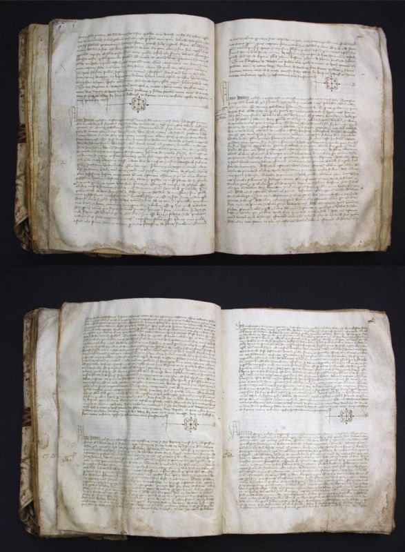 Kopialbuch mit notariell beglaubigten Lehnsreversen von Moissac-Vallee-Francaise unter Jean de Murols (Murol)