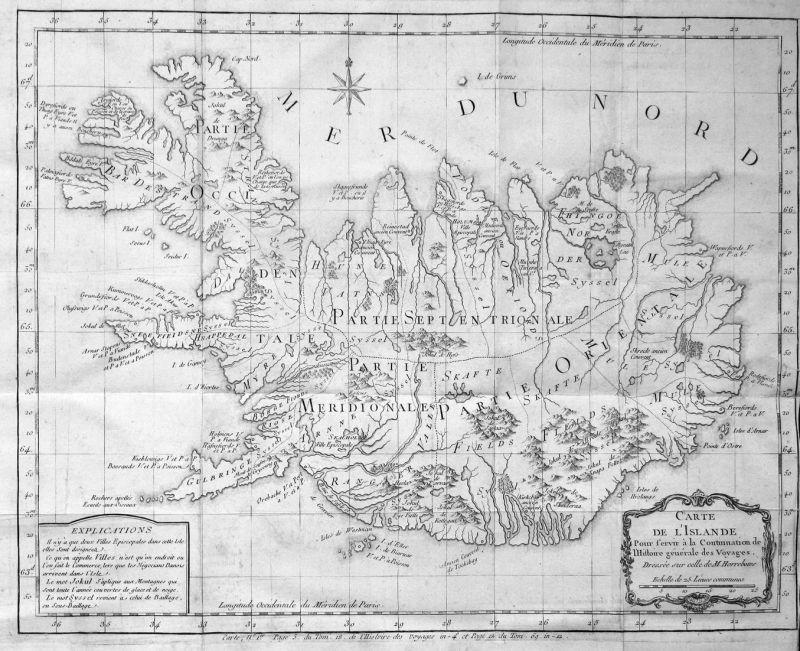 Nouvelle Carte de l'Isle de Java - Java Jawa Indonesia Indonesien Karte map plan Kupferstich antique print