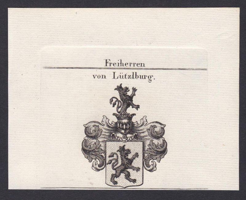 Freiherren von Lützlburg - Lützelburg Lothringen Frankreich France Wappen Adel coat of arms heraldry Heraldik