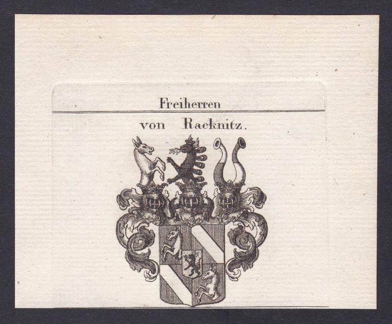 Freiherren von Racknitz - Racknitz Heinsheim Steiermark Österreich Austria Wappen Adel coat of arms heraldry H