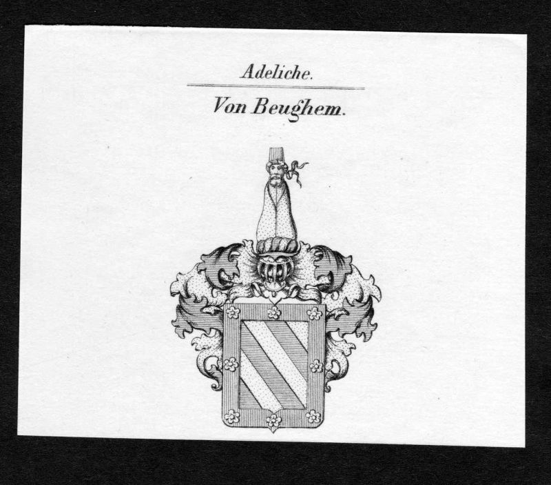 Von Beughem - Beughem Wappen Adel coat of arms Kupferstich antique print heraldry Heraldik
