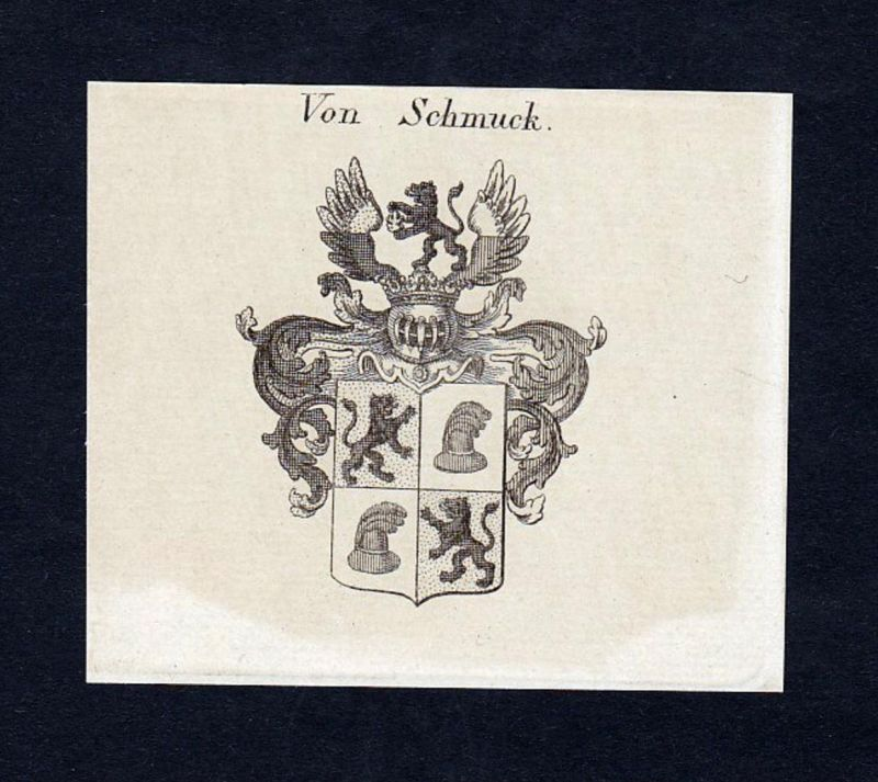 Von Schmuck - Schmuck Wappen Adel coat of arms heraldry Heraldik Kupferstich engraving