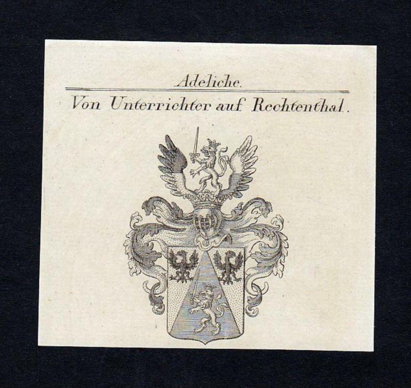 Von Unterrichter auf Rechtenthal - Unterrichter Rechtenthal Salegg Wappen Adel coat of arms heraldry Heraldik