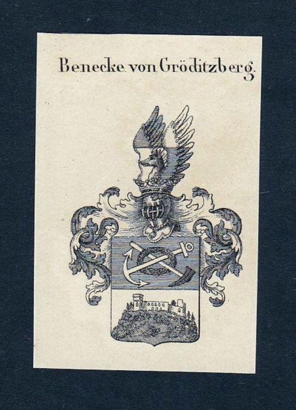 Benecke von Görditzberg - Benecke Görditzberg Wilhelm Wappen Adel coat of arms heraldry Heraldik Kupferstich e