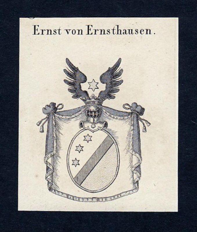 Ernst von Ernsthausen - Ernst Ernsthausen Entier Wappen Adel coat of arms heraldry Heraldik Kupferstich engrav