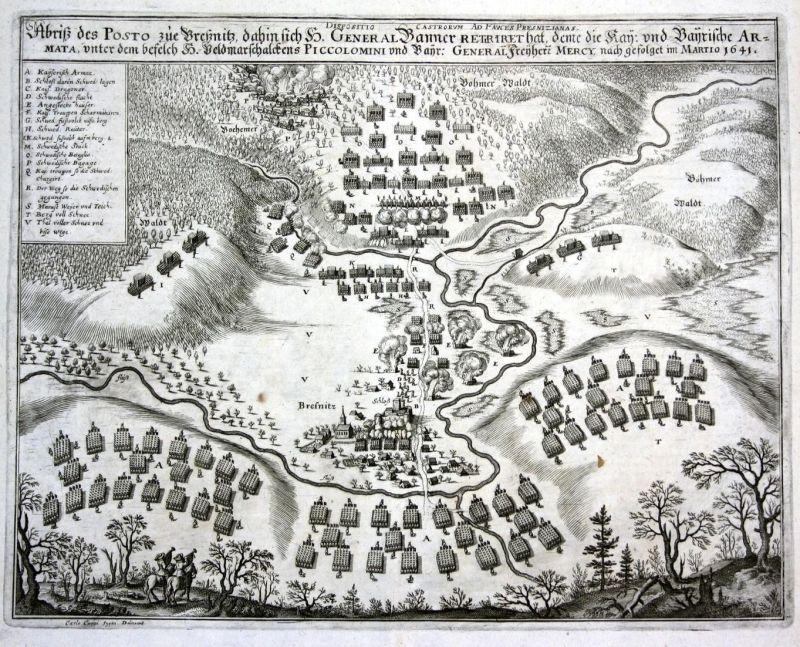 Abriß des Posto zue Breßnitz dahin sich H. General Banner Retriret hat .. im Martio 1641 - Bresnitz  Brzeznica