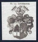 Hn. von Lindeboom -  Lindeboom Wappen Adel coat of arms heraldry Heraldik Kupferstich engraving