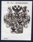Rs. Gr. v. Auersperg - Auersperg Österreich Wappen Adel coat of arms heraldry Heraldik Kupferstich engraving