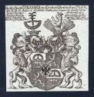 Hr. Ioh. Burkh Volkamer von Kirchensittenbach auf Rasch - Kirchensittenbach Bayern Rasch Volkamer Wappen Adel