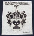 Hr. Stürmer von Unter-Nesselbach - Unternesselbach Stürmer Wappen Adel coat of arms heraldry Heraldik Kupferst