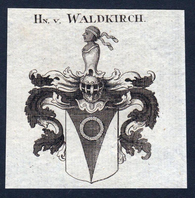 Hn. v. Waldkirch - Waldkirch Schweiz Wappen Adel coat of arms heraldry Heraldik Kupferstich engraving