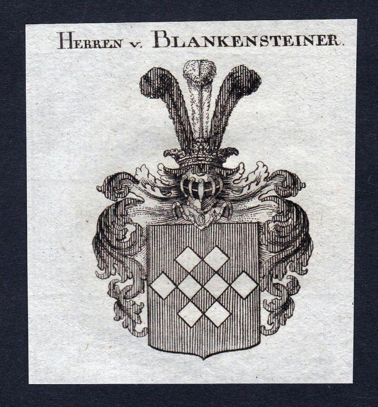 Herren v. Blankensteiner - Ernst Blankenstein Wappen Adel coat of arms heraldry Heraldik Kupferstich engraving