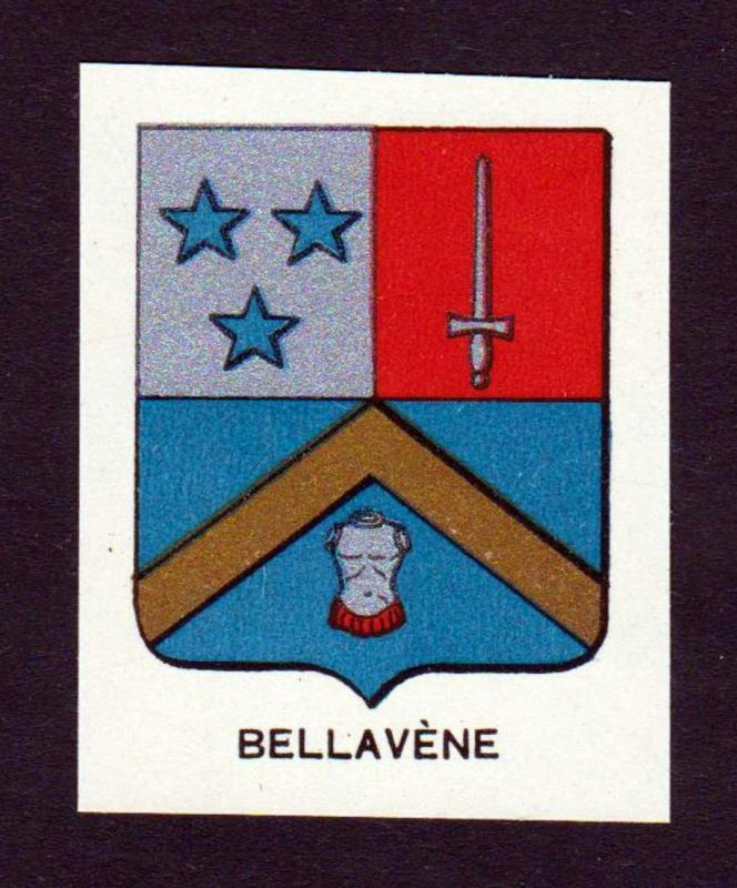 Bellavene - Bellavene Wappen Adel coat of arms heraldry Lithographie antique print blason