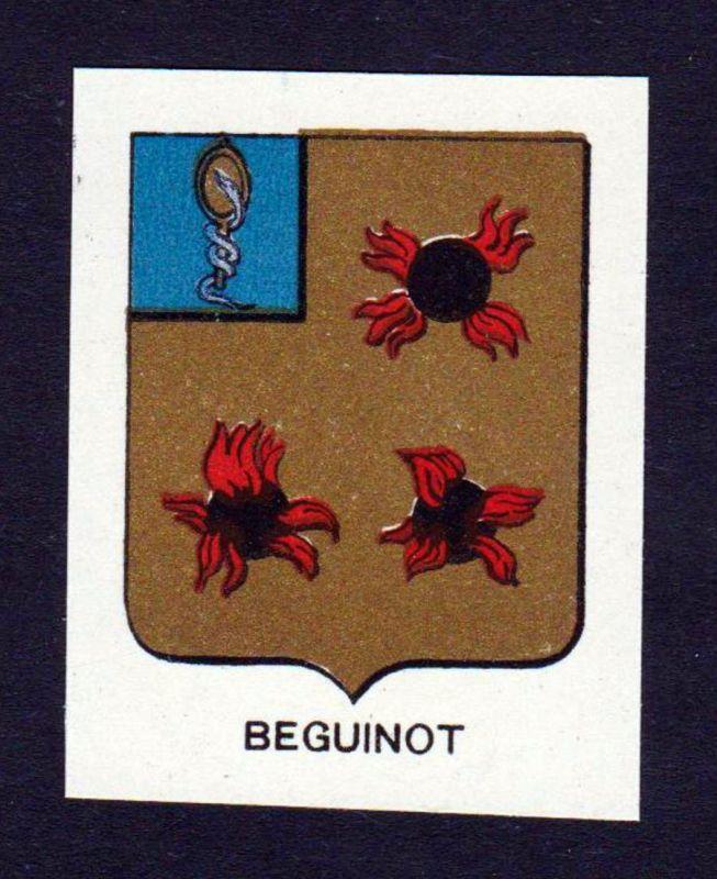 Beguinot - Beguinot Wappen Adel coat of arms heraldry Lithographie antique print blason