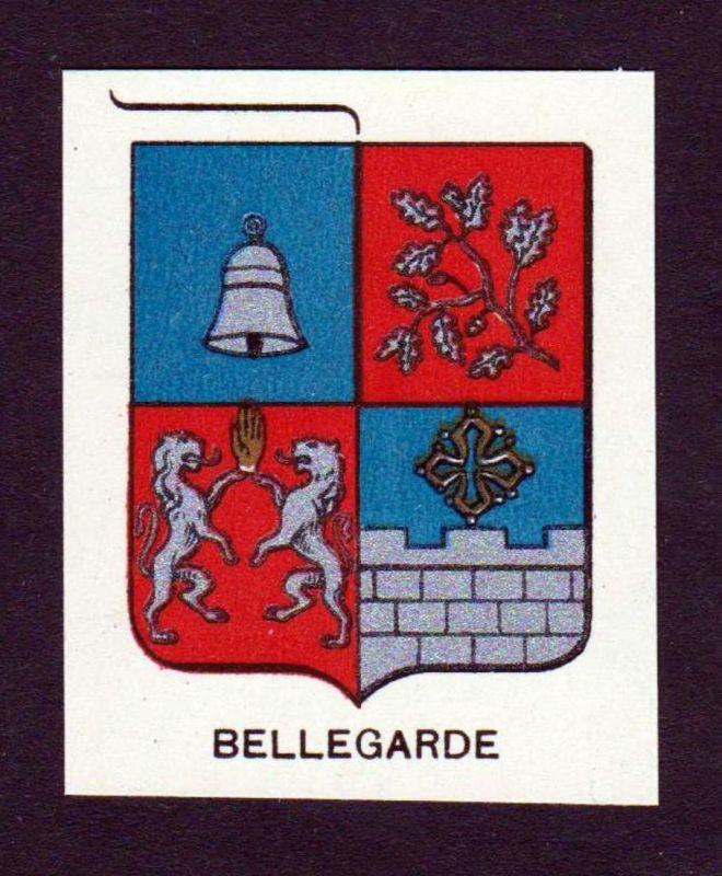 Bellegarde - Bellegarde Wappen Adel coat of arms heraldry Lithographie antique print blason