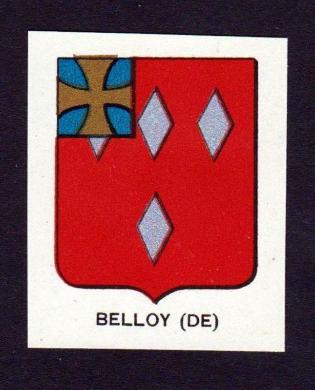 Belloy (DE) - Belloy Wappen Adel coat of arms heraldry Lithographie antique print blason