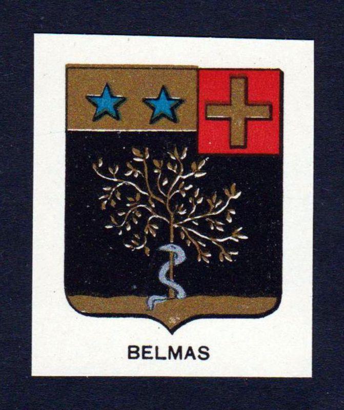 Belmas - Belmas Wappen Adel coat of arms heraldry Lithographie antique print blason