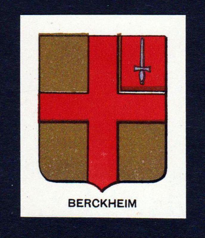 Berckheim - Berckheim Wappen Adel coat of arms heraldry Lithographie antique print blason
