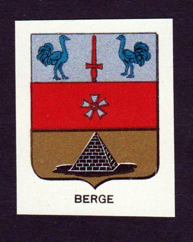 Berge - Berge Wappen Adel coat of arms heraldry Lithographie antique print blason