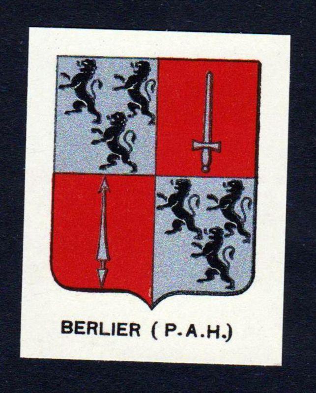 Berlier (P. A. H.) - Berlier Wappen Adel coat of arms heraldry Lithographie antique print blason