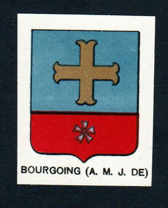 Bourgoing (A. M. J. DE) - Bourgoing Wappen Adel coat of arms heraldry Lithographie antique print blason