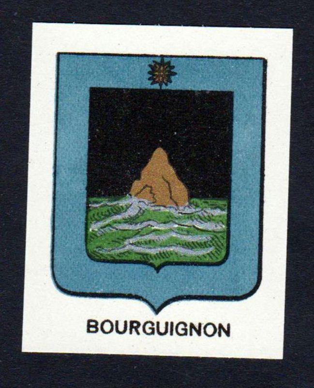 Bourguignon - Bourguignon Wappen Adel coat of arms heraldry Lithographie antique print blason