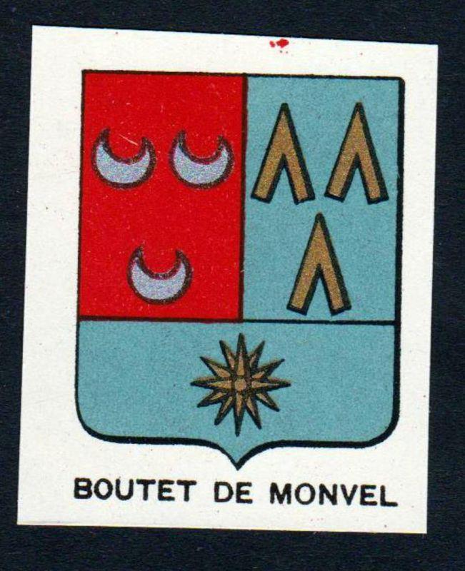 Boutet de Monvel - Boutet de Monvel Wappen Adel coat of arms heraldry Lithographie antique print blason