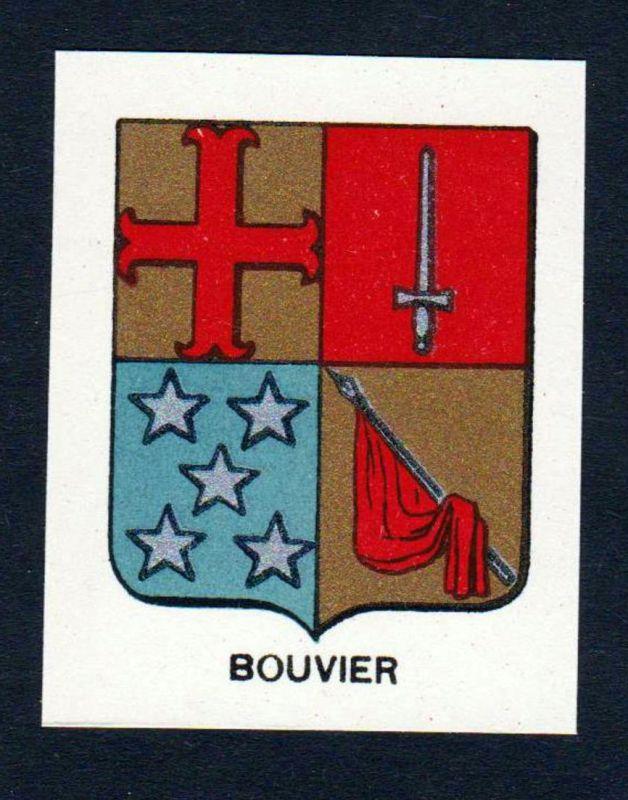 Bouvier - Bouvier Wappen Adel coat of arms heraldry Lithographie antique print blason