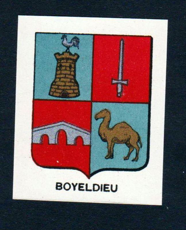 Boyeldieu - Boyeldieu Boieldieu Wappen Adel coat of arms heraldry Lithographie antique print blason