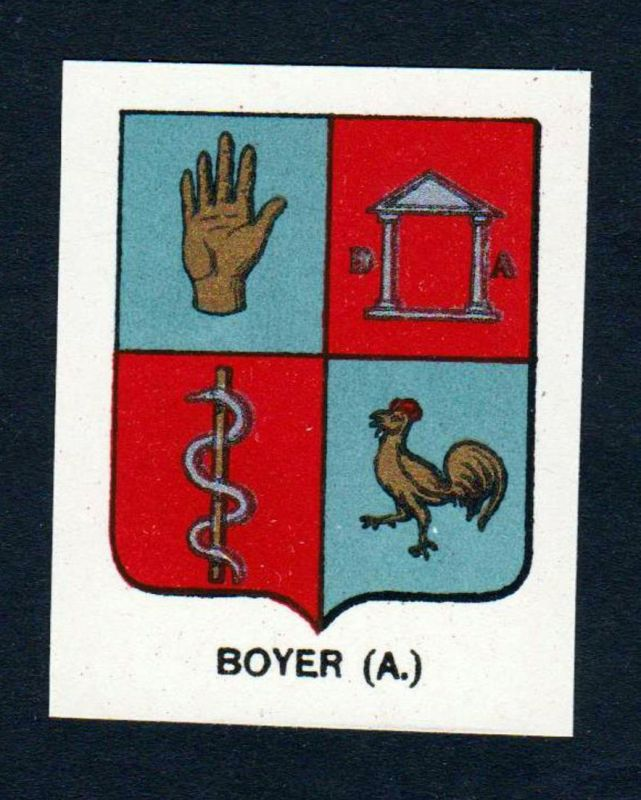 Boyer (A.) - Boyer Wappen Adel coat of arms heraldry Lithographie antique print blason