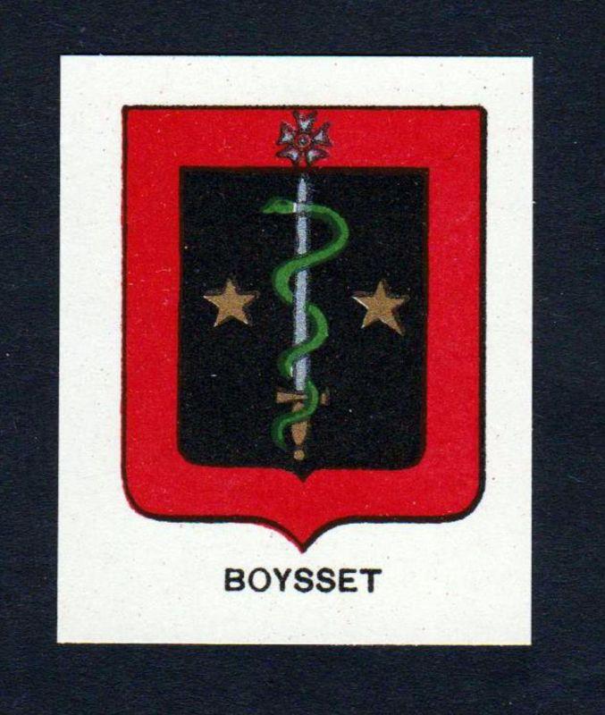 Boysset - Boysset Boisset Wappen Adel coat of arms heraldry Lithographie antique print blason