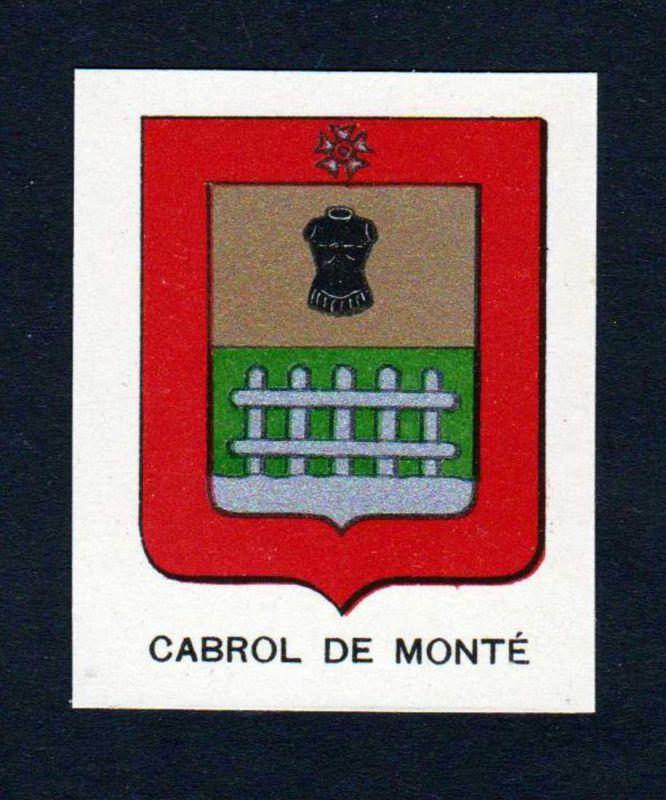 Cabrol de Monte - Cabrol de Monte Moute Wappen Adel coat of arms heraldry Lithographie antique print blason