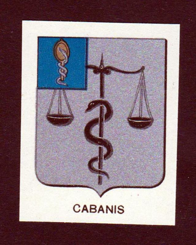 Cabanis - Cabanis Wappen Adel coat of arms heraldry Lithographie antique print blason