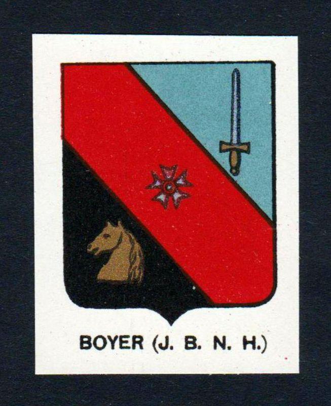 Boyer (J. B. N. H.) - Boyer Wappen Adel coat of arms heraldry Lithographie antique print blason