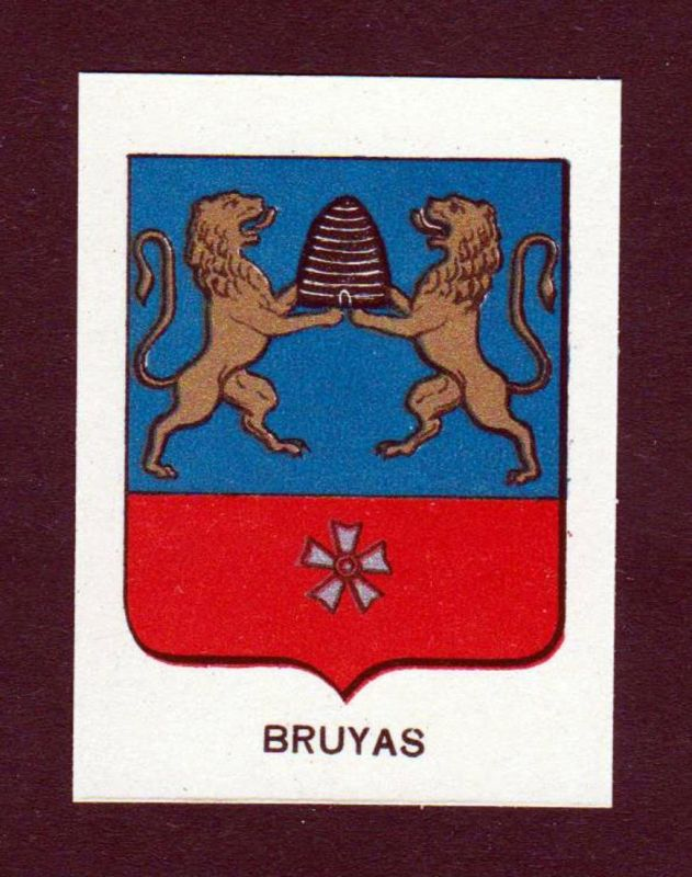 Bruyas - Bruyas Wappen Adel coat of arms heraldry Lithographie antique print blason